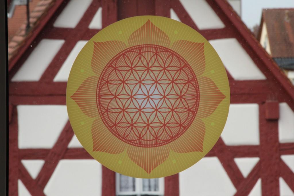 Die Blume des Lebens im Herzen der Stadt Hersbruck